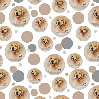 GRAPHICS & MORE Golden Retriever Dog Breed Premium Gift Wrap Wrapping Paper Roll