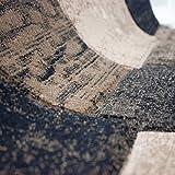 VIMODA Teppich Modern Patchwork Optik Kariert Meliert in Braun, Maße:80 x 150 cm - 3