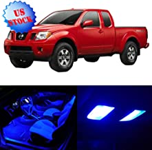 SCITOO LED Interior Lights 9pcs Blue Package Kit Accessories Replacement for 1999-2004 Nissan Frontier