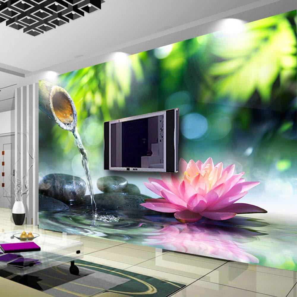ZJFHL Non-Woven Paper Wall MuralHot spring bamboo 350CMx256CM Wall ...