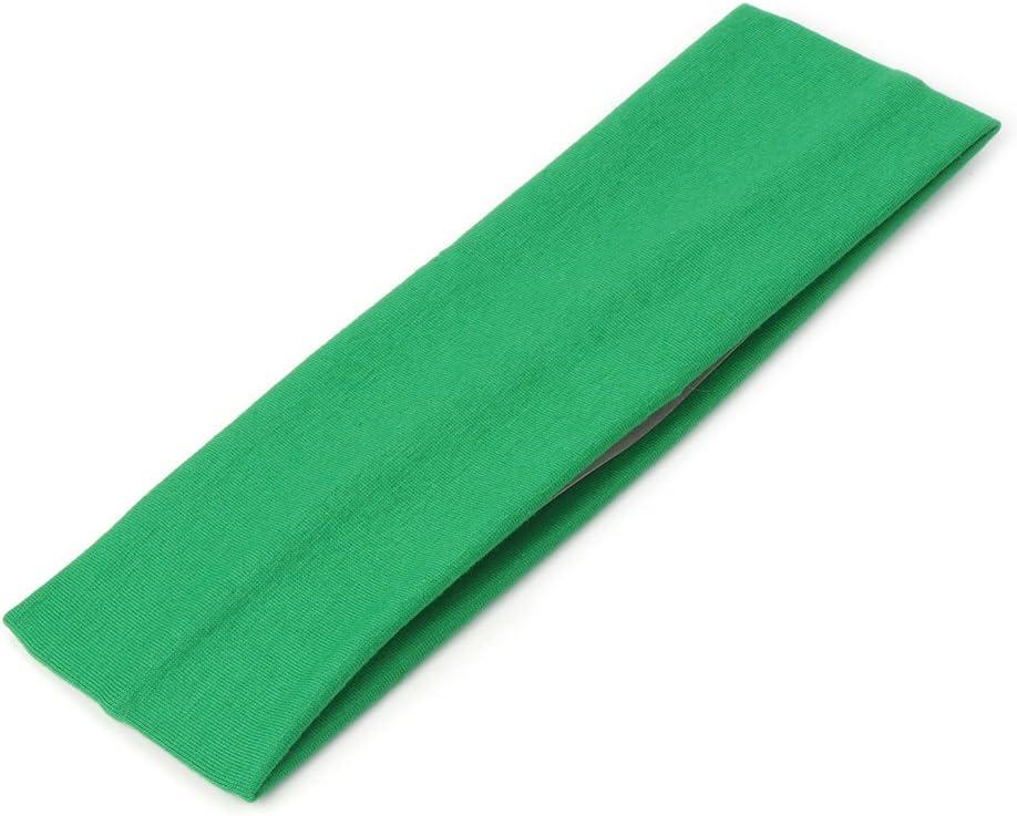 Kofun Sport Hair Band Elastic Wide Blend Cotton Yoga Exercise Women Sweatband Headband Fluorescent Yellow