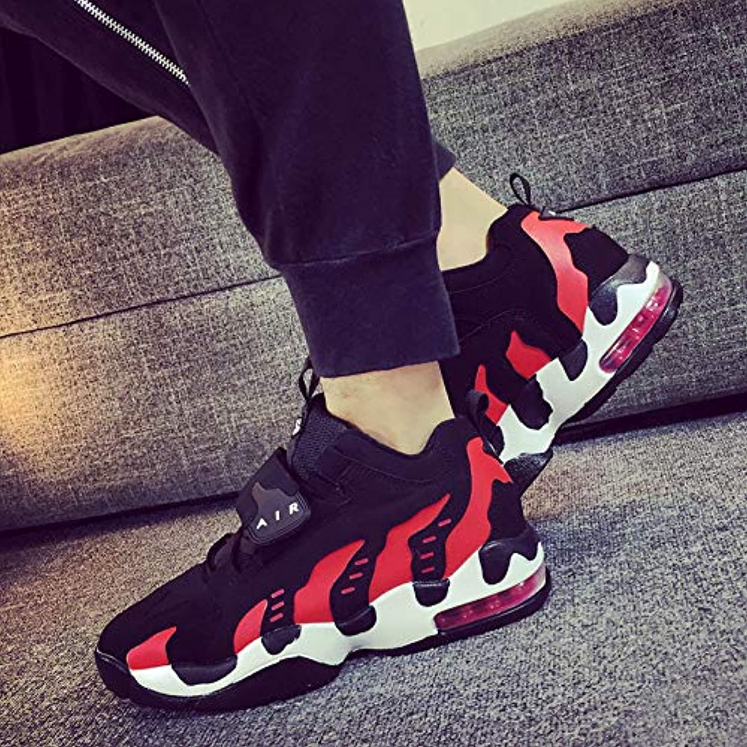 LOVDRAM Boots Men's Basketball shoes Four Seasons Men'S shoes Air Cushion Running shoes Sports shoes Men'S Fashion Couple Walking shoes