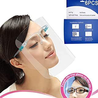 6PCS All-Round Protection Cap with Clear Wide Visor Spitting Anti-Fog Lens, Lightweight Transparent Shield with for Men Women