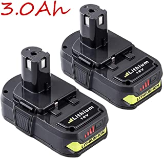 2Packs 18V 3.0A Replace for Ryobi Battery Lithium ONE+ P102 P103 P104 P105 P107 P108 P109 P122 Cordless Power Tools