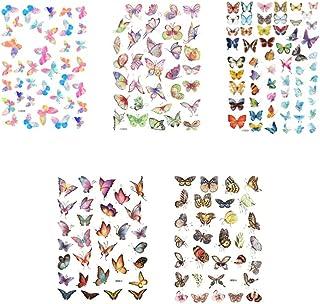 TOYANDONA 5 hojas de pegatinas de scrapbooking de mariposas, pegatinas de notas de mariposas para bloc de notas, cuaderno de papel, diario, fabricación de tarjetas, cartas
