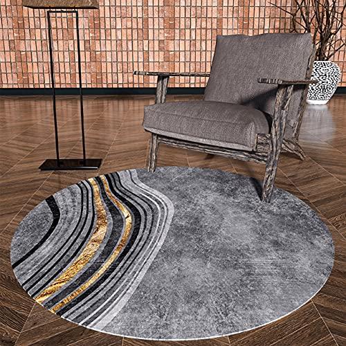 DRSFF Große Fläche Moderner Stil Runde Teppiche für Wohnzimmer Arbeitszimmer Schlafzimmer 80 cm 100 cm 120 cm 140 cm 160cm 200 cm Nachttisch Sofa Teppichboden Matte (Size : Durchmesser 80cm)