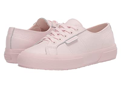 Superga 2750 Tumbled Leather (Total Pink) Women