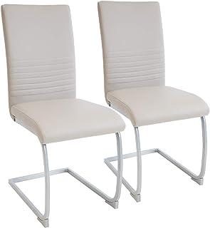 Albatros Silla Cantilever Murano Set de 2 sillas Beige, SGS Probado