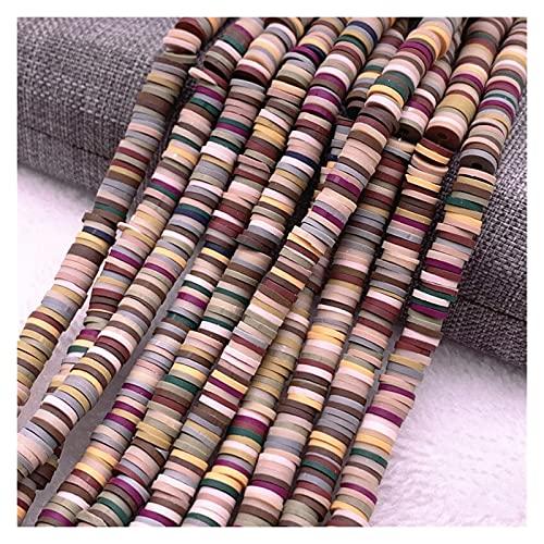 MURUI NTZ 6mm Plana Redondo Color polimer Arcilla Arcilla rebanadas para niñas Pulsera Haciendo Bricolaje Collar y Accesorios de Pulsera Yc0415 (Color : 05)