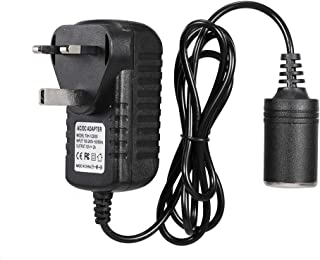 Hippopy AC to DC Converter Car Power Inverter, AC to DC Converter, 240V-12V DC Car Converter Lighter Socket Voltage Conver...