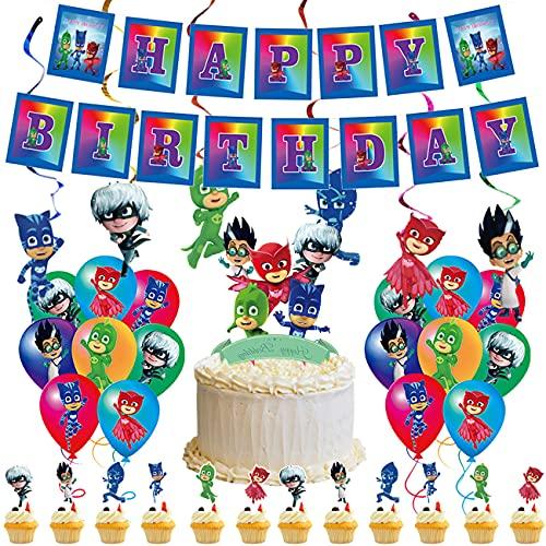 Theme Party Supplies simyron 50pcs Decoración fiestas cumpleaños Happy Birthday Banner Birthday Balloons cake Toppers fiestas temáticas de niños