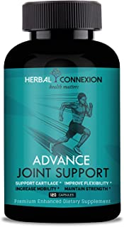 Herbal Connexion Advance Joint Support - Glucosamine Chondroitin Ashwagandha - Supplement with Hyaluronic Acid - Natural H...