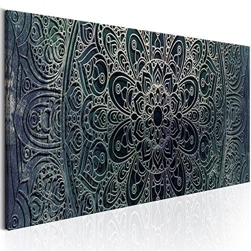 murando Cuadro Acústico Mandala 120x40 cm XXL Impresión Artística Lienzo de Tejido no Tejido Estampado Decoración de Pared Aislamiento Absorción de Sonidos Imagen Orient Zen f-A-0594-b-d