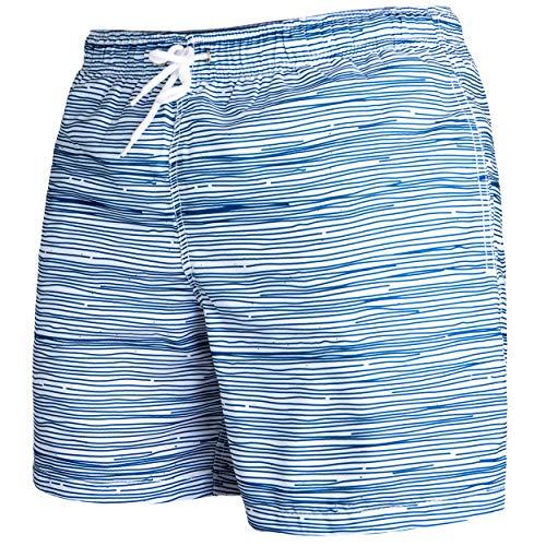 Occulto Herren Männer Badehose in vielen Farben | Badeshort | Bermuda Shorts | Beachshort | Slim Fit | Schwimmhose | Boardshort | Jungen (L, Navy)
