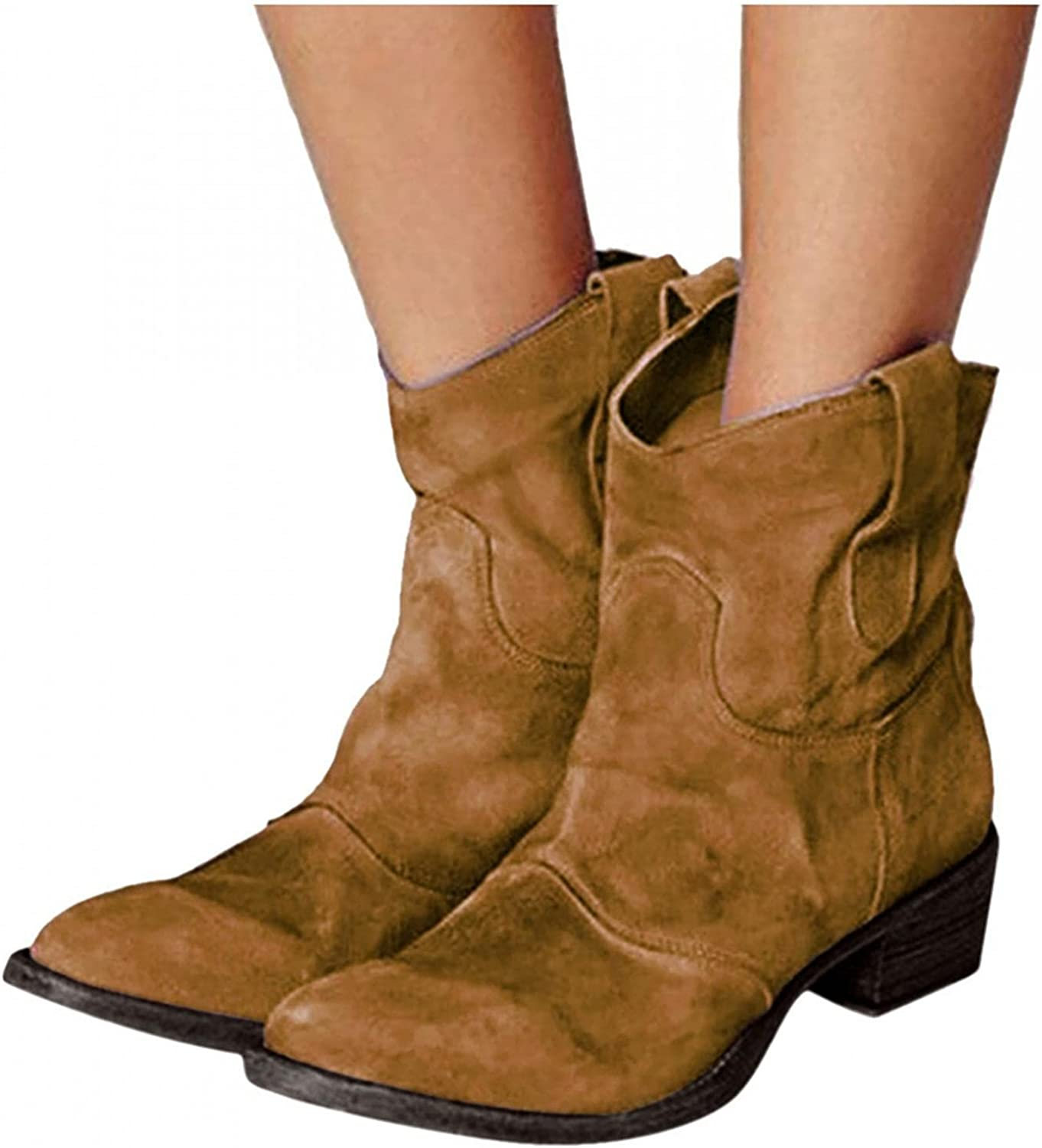 Zieglen Boots for Women Ankle Cowboy Max 52% OFF Slip-On Leather Finally resale start