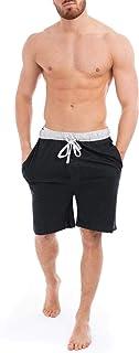 Style It Up Mens Lounge Shorts Pyjama Pjs Bottom Jersey Cotton Rich Plain Nightwear Brushed Soft Warm S-2XL Black Navy Grey