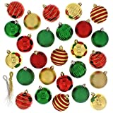 Festive 100 Piece Assorted Ball Christmas Ornament, Multi