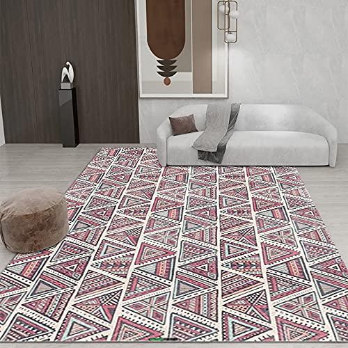 Alfombra Irregular De Impresión Geométrica Alfombra Gruesa Impermeable Y Antideslizante Adecuada para Dormitorio Hotel Sala De Estar