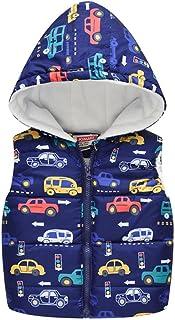 LuckyOne Chaleco de moda para niñas Niños con capucha de algodón de invierno chaqueta de bebé niña ropa de niño con capuch...