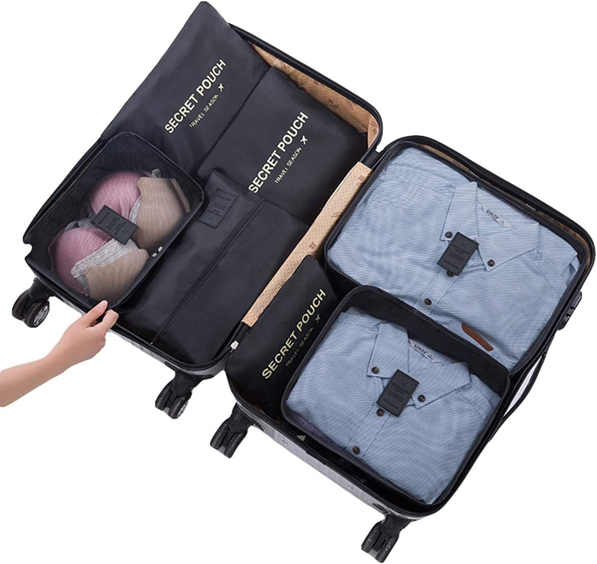 7Pcs Travel Deluxe Storage Bags Luggage Max 65% OFF Packing Clothin Cubes Organizer