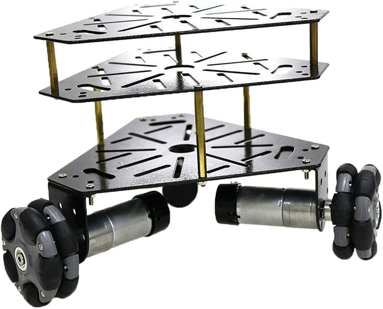 Homyl Kit di Telaio Robot autoro Armato Intelligente DIY Staffa Motore Mettuttio - Nero argentoo 9V