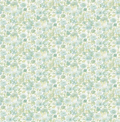 """BHF fd22216""""AMI diseño floral papel pintado–verde"""