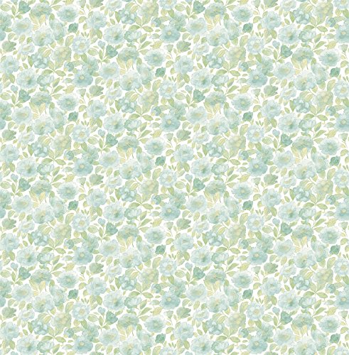 BHF fd22216'Elsie floreale verde Ami–Carta da parati Teal