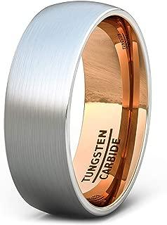 Best tungsten rose gold mens wedding rings Reviews