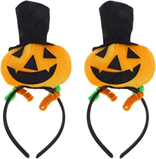 Lurrose Pumpkin Headband Hat Party Cosplay Hair Accessories Unisex 2pcs