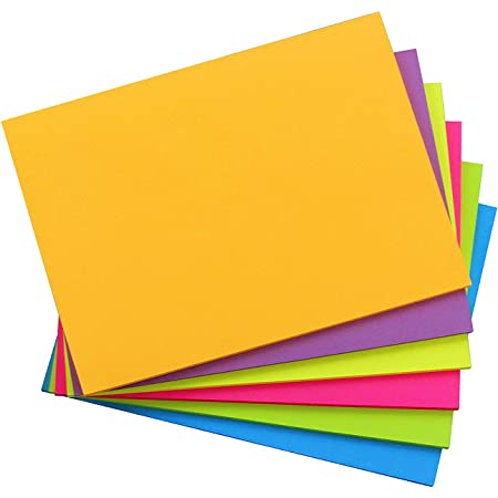 45 Sheets//Pad Early Buy Lined Sticky Notes with Lines 8x6 Self-Stick Notes 6 Bright Color 6 Pads