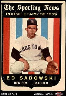 1959 Topps # 139 Ed Sadowski Boston Red Sox (Baseball Card) Dean's Cards 3 - VG Red Sox