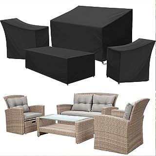Sponsored Ad – Kovshuiwe Patio Furniture Covers,4-Piece Outdoor Veranda Patio Garden Furniture Covers Set Waterproof - Upg...