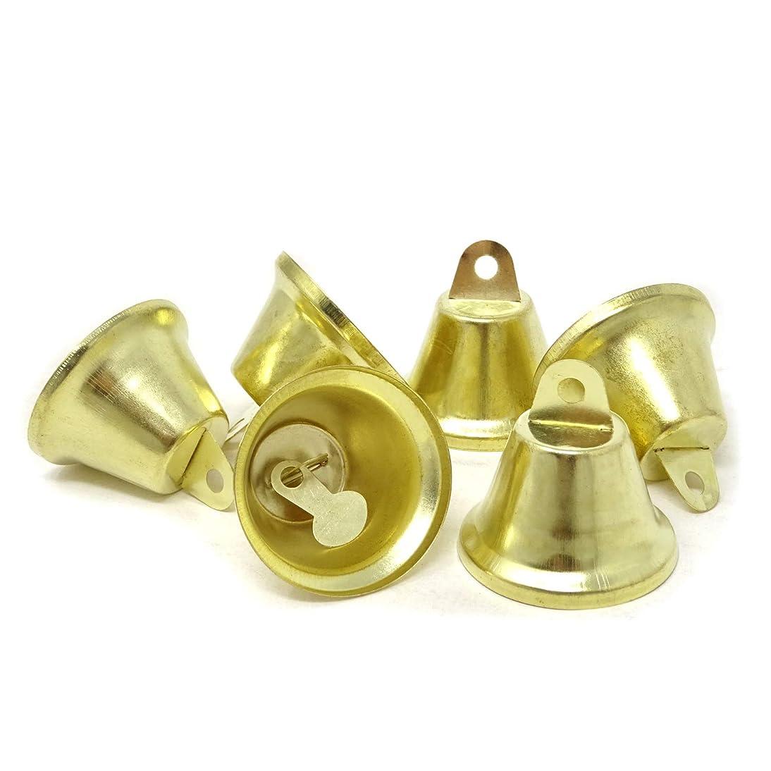 Honbay 20PCS 38mm/1.5inch Shiny Gold Liberty Bells Decor Bells