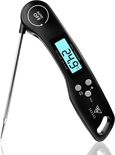 DOQAUS Thermometre Cuisine, 3s Lecture instantané Thermometre Cuisson, Thermomètre Viande, avec Écran LCD RétroÉclair...