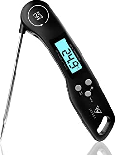 DOQAUS Thermomètre Cuisine, 3s Lecture instantané Thermomètre Cuisson, Thermomètre Viande, avec Écran LED RétroÉclairage, ...