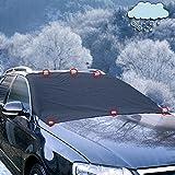 iZoeL Magnetische Frontscheibenabdeckung Auto Scheibenabdeckung Frostschutz Abdeckung mit 6 Magnete Eisschutzfolien Winterabdeckung Keine Kratzer Oversized für SUV Truck Normal Auto