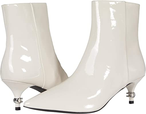 COACH Jewel Patent Bootie,Chalk