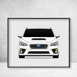 Subaru STI WRX Impreza G4 Fourth Generation (2014-2017) Poster Print Wall Art Decor Handmade