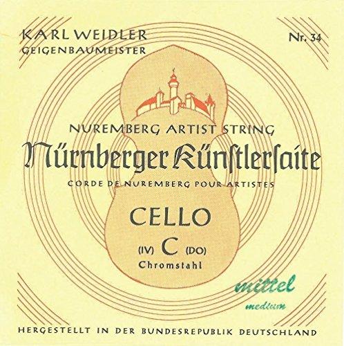 N?rnberger Saiten f?r Cello K?nstler C Chromstahl; 4/4