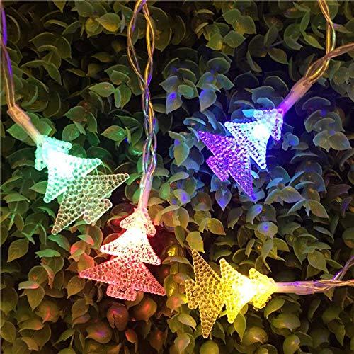 Juranting Led-lichtsnoer met kerstman, eland-alpaca, lantaarn, kerstversiering, 10 lampjes, kleur kerstboom, 200 cm