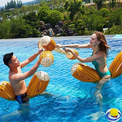 ZJDU Juguetes Inflables De Fila Flotante,Juguetes De Fila Flotante De Agua para Fiestas En La Piscina para Niños Adultos,Fiesta En La Piscina Juegos De Deportes Acuáticos Junto Al Mar