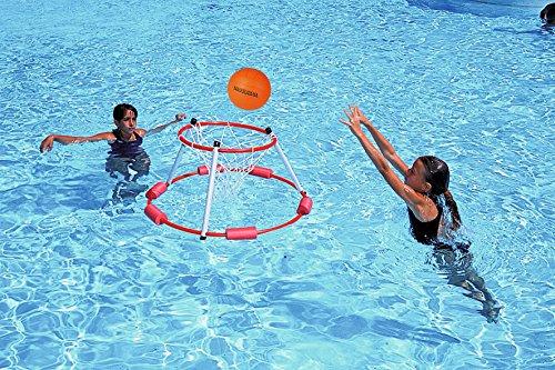 Sport-Thieme Wasser-Basketball-Korb | Pool- u. Schwimmbadspielzeug | Wasserring ø 66 cm | Schnell montiert, stabile Ausführung