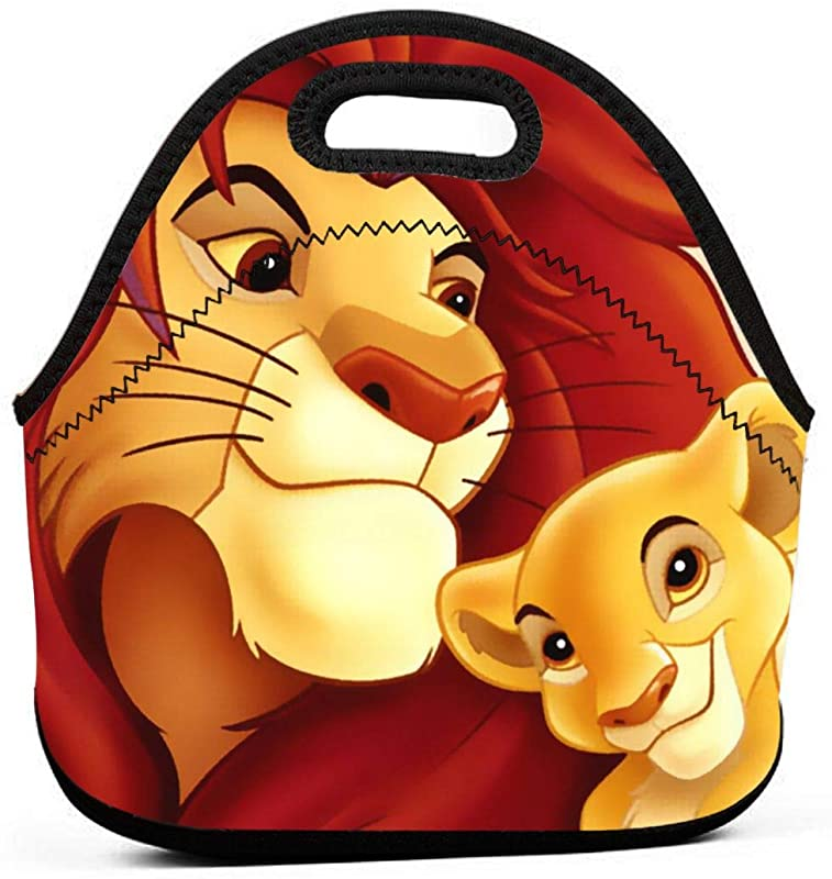 Lion King Lunch Bag Insulated Neoprene Lunch Box Boys Girls Lunch Tote Handbag For School Work