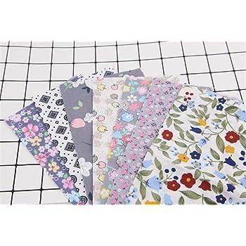 Hava Kolari - Juego de 7 Telas de Patchwork, 50 x 50 cm, 100% algodón, Tela de algodón de Colores: Amazon.es: Hogar