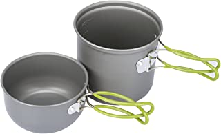 G4Free Camping Cookware Mess Kit 4/13 Piece Hiking Backpacking Picnic Cooking Bowl Non..