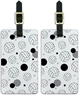 Graphics & More Luggage Suitcase Carry-on Id Tags-Sports and Hobbies-Cartoon Volleyball, White