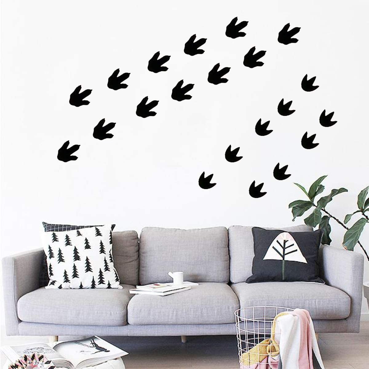 Dinosaur Footprints Stickers 45 pcs Dinosaur Tracks Decals Removable Peel and Stick Wall StickersBaby Nursery Removable Wall Decor Decals