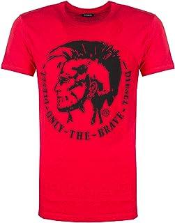 Diesel Camiseta Hombre Rojo 00SQXC-0091B T-Diego-FO Maglietta Rosso