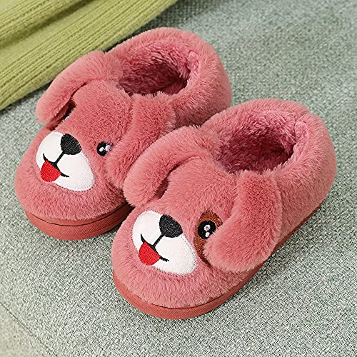 Pantuflas Mujer Invierno Casa Baratas,Zapatillas De AlgodóN para NiñOs, Bolsa Interior con Zapatos De AlgodóN CáLidos Gruesos De Suela Suave, Zapatillas Antideslizantes De PVC para Dormitorio De NiñO