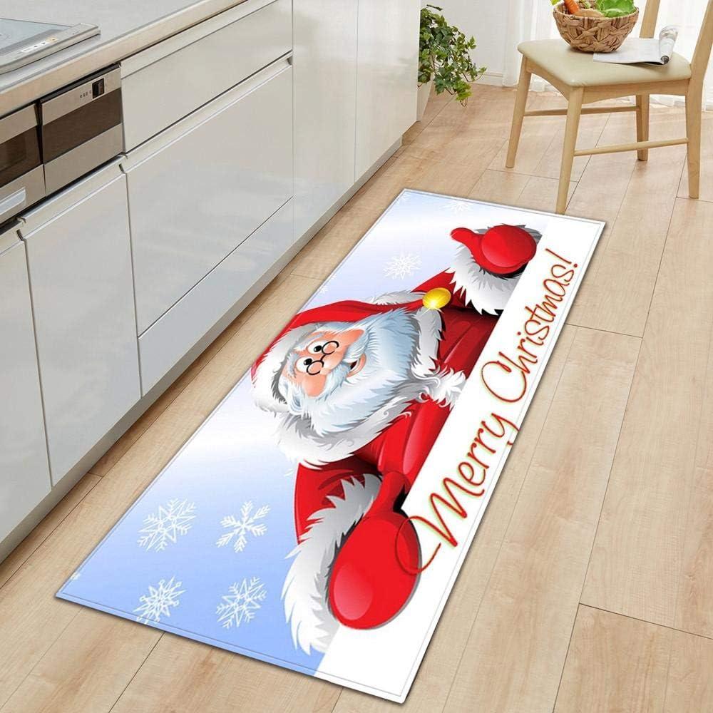 Custom San Jose Mall Christmas Pattern Kitchen Floor Entrance Limited price sale Mat M Door